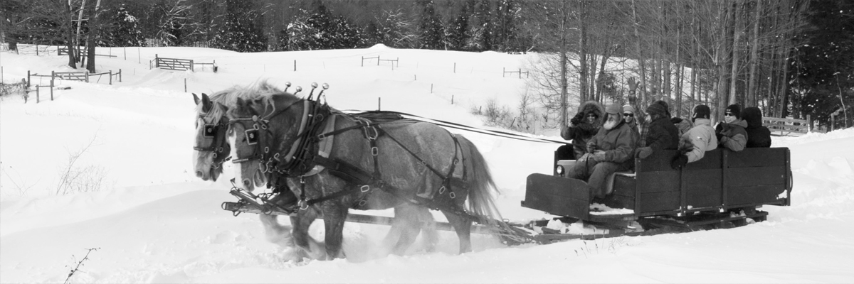A sleigh ride on the Fitch Farm